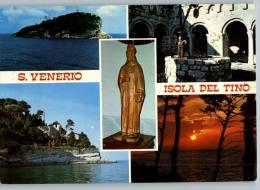 """ISOLA DEL TINO (LA SPEZIA) -VEDUTE - ANNULLO """"celebrazioni San Venerio"""" - Viaggiata 1987 - La Spezia"""