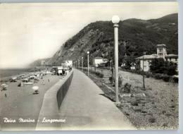 DEIVA MARINA (La Spezia) - LUNGOMARE - VIAGGIATA 1956 - La Spezia