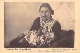 MISSIONS Des Pères OBLATS  Au Pays Des Neiges Et Glaces. Indienne Et Son Bébé (Tribu Des Mangeurs De Caribous) RELIGION - Missions
