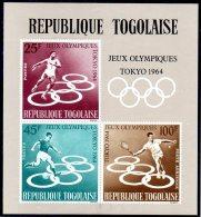 TOGO. BF 12 De 1964 (neuf Sans Charnière : MNH). J.O. De Tokyo/Tennis/Football/Athlétisme. - Summer 1964: Tokyo