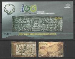 Indonesia (2013) - Set + Block -   /  Heritage - Archeology - Archeologie - Arqueologia - Archäologie