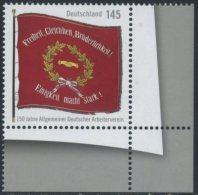 !a! GERMANY 2013 Mi. 2997 MNH SINGLE From Lower Right Corner -Allgemeiner Deutscher Arbeiterverein - [7] Repubblica Federale