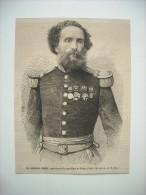GRAVURE 1864. PEROU. LE GENERAL PEZET, PRESIDENT DE LA REPUBLIQUE DU PEROU. - Prints & Engravings