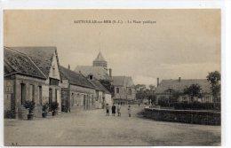 CPA  -  SOTTEVILLE - Sur - MER  (76)   La Place Publique   ( Café ) - France