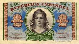 Republica Espagnola - 2 Pesetas -  Emision 1938  -  A 2458933  - - 1-2 Pesetas