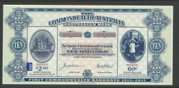 2013 1st Commonwealth Bank Note Issue Mini Sheet  Complete Mint Never Hinged As Purchased From Australia Post - Blocks & Sheetlets