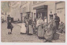 GALLARDON : CANTON DE MAINTENON  - MARCHE AUX FLEURS - ECRITE 1906 - 2 SCANS - - Autres Communes