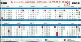 BRASSERIE ANGLO-BELGE 9780 ZULTE - Calendriers