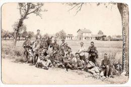 CPA Photo  Surbourg 67 Bas Rhin  Le Pique Nique Soldats Militaires Militaria 23 è Régiment Gare Train - Unclassified