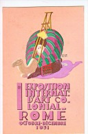 LAZIO ROMA I.EXPOSITION INTERNATIONAL D'ART COLONIAL -OCTOBRE 1931.DE LA FIORE DE TRIPOLI,ILLUSTR:P.MORBI,1921.CARTOLINA - Mostre, Esposizioni
