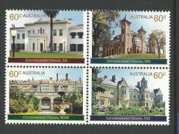 2013 Government Houses  Block Of 4 Complete Mint Never Hinged As Purchased From The Post Office Value Buying. - Blocks & Sheetlets