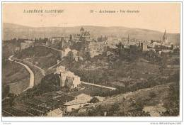 CPA - 07 - Aubenas - Vue Générale - Divisé - Circulé - En Bon état - 1924 - - Aubenas