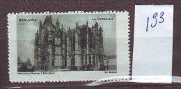 FRANCE TIMBRE VIGNETTE CINDERELLA ........CATHEDRALE  BEAUVAIS - Tourism (Labels)