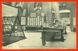 CPA 13 MARSEILLE - EXPOSITION COLONIALE (1906) - Palais De La Mer - SALLE Du PRINCE De MONACO (bateau Voilier) - Colonial Exhibitions 1906 - 1922