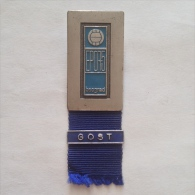 Badge / Pin (Volleyball) - Yugoslavia Beograd (Belgrade) European Championship 1975 GOST (GUEST) - Volleyball