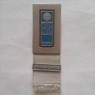 Badge / Pin (Volleyball) - Yugoslavia Beograd (Belgrade) European Championship 1975 ORGANIZATOR - Volleyball
