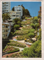 San Francisco , Summer Flowers Cable Car Clean Fresh Pastel Colors Of Residencen On Lombard Street - Crookedest Street - San Francisco