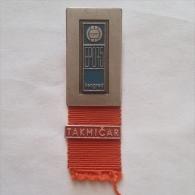 Badge / Pin (Volleyball) - Yugoslavia Beograd (Belgrade) European Championship 1975 TAKMICAR - Volleyball