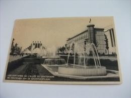 Exposition De Bruxelles 1935  Les Fontaines De L'allèe Du Centenaire - Esposizioni