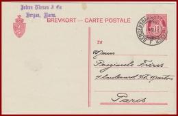 Bahnpost Norwegen Bergegensbanen  Vom 9.3.1914 - Covers & Documents