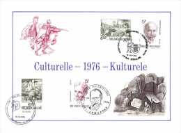Belgium 1976 Mi. 1880-1883 COB 1828-1831 FDC Commemoration, Bernard, Van Boelare, Plisnier, Parable Of The Blind Bruegel - Cartes Souvenir