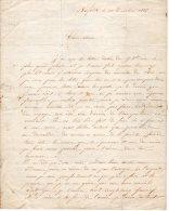 VP402 - NEW / YORK 1855 - Lettre Pour La France - Manuscrits