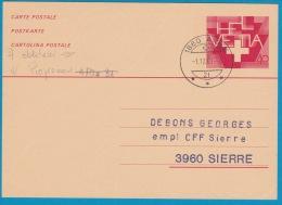 Carte Postale - Entier Postal Oblitéré Aigle Le 01.12.1981 - Interi Postali