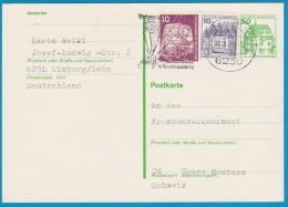 Carte Postale - Entier Postal Oblitéré Avec Affranchissement Complémentaire Frankfurt Am Main Du 12.09.1983 - [6] República Democrática