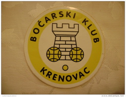 Bocarski Klub Krenovac Cavle Grobnik Fiume Rijeka Old Nice Label 10 Cm Brand New Boćanje - Sports