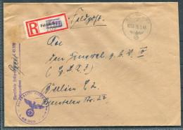 1943 DR Germany Feldpost Einschreiben Brief - Berlin - Briefe U. Dokumente