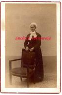 Grand CDV (CAB)  11 X 16,5cm-idenfiée-Marianne Pourchot V1880, Domestique -austère!- De Mme Henri RICHARD-bel état - Anciennes (Av. 1900)
