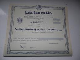 CARS LUXE DU MIDI (moissac-tarn Et Garonne) - Actions & Titres