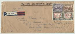 Lettre On Her Majesty's Service De Guyane Britannique Pour Rome, Par Avion, Années 50 - British Guiana (...-1966)