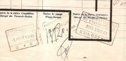 XFE-26    GAND MARITIME      POIDS REZCONNU A  GAND PORT   .....LILOG      TRAZEGNIES  /CHARBONNAGES DE COURCELLES NORD - 1895-1913