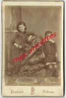 Grand CDV (cab)-vers 1890-beaux Enfants Blanche Et Georges DOUBLET-photo Paulus -  Epernay - Anciennes (Av. 1900)