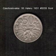 CZECHOSLOVAKIA    50  HALERU  1931  (KM # 2) - Czechoslovakia
