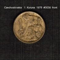 CZECHOSLOVAKIA    1  KORUNA  1976  (KM # 50) - Czechoslovakia