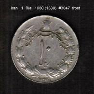 IRAN    1  RIAL  1960 (1339)  (KM # 1171a) - Iran