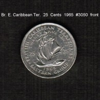 BRITISH CARIBBEAN TERRITORIES    25  CENTS  1965  (KM # 6) - Britse Caribische Gebieden