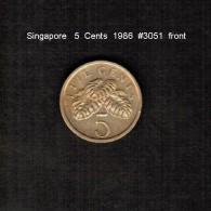 SINGAPORE    5  CENTS  1986  (KM # 50) - Singapore