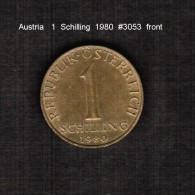 AUSTRIA    1  SCHILLING  1980  (KM # 2886) - Austria
