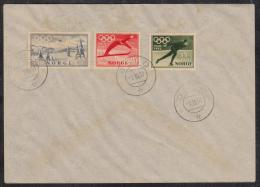 NORVEGE  FDC  OLYMPIQUES OSLO 1952   YVERT N° 337/9  Réf  4955 - Winter 1952: Oslo