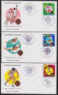 POLYNESIE  FDC 1975  SPORTS  VOLLEY BALL    Réf  4956 - Sellos