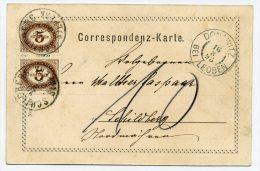 PORTO ANK/Mi. 4 (2) Karte DONAWITZ BEI LEOBEN-SCHILDBERG - Portomarken