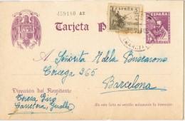 5514. Entero Postal GUALBA (barcelona) 1939 - 1931-....