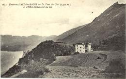 73/CPA - Envi. D'Aix Les Bains - La Dent Du Chat Et L'Hotel Restaurant Du Col - Aix Les Bains