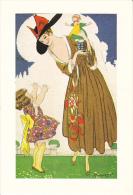 CPSM CENTENAIRE NAISSANCE DE MAUZAN FEMME ET ENFANT POUPEE 1983 N°147/ 1000 - Mauzan, L.A.