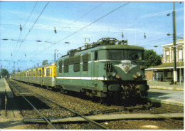 Carte Postale 59. Aulnoye   La Gare  Train SNCF  Trés Beau Plan - Aulnoye