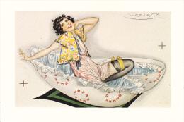 CPSM CENTENAIRE NAISSANCE DE MAUZAN JEUNE FEMME SEXY OEUF DE PAQUES 1983 N°147/ 1000 - Mauzan, L.A.