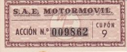 01328 Acciones S.A.E MOTORMOVIL - Automovilismo